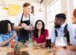 server taking order at restaurant - restaurant loyalty concept
